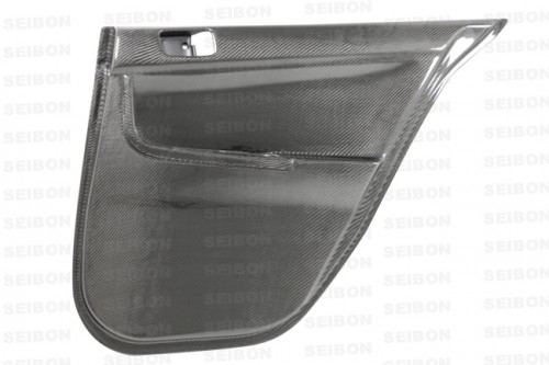 Carbon fiber rear door panels for 2008-2012 Mitsubishi Lancer EVO X