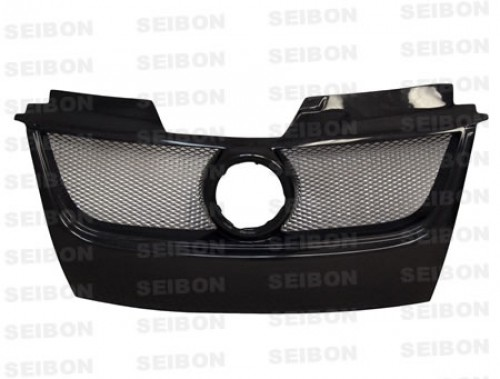 TB-style carbon fiber front grille for 2006-2009 Volkswagen Golf GTI (w/Emblem)