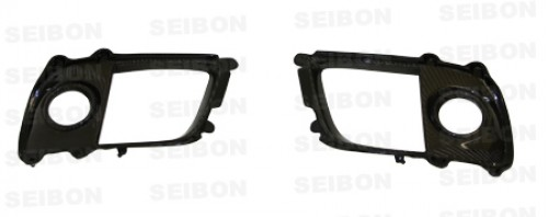 Carbon fiber fog light surround for 2008-2012 Mitsubishi Lancer EVO X