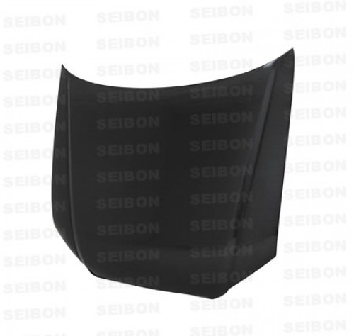 OEM-STYLE CARBON FIBER HOOD FOR 2006-2008 AUDI A4 - Straight Weave