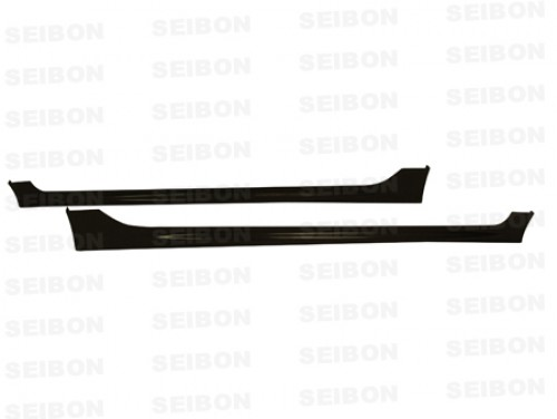MG-style carbon fiber side skirts for 2006-2010 Honda Civic 4DR