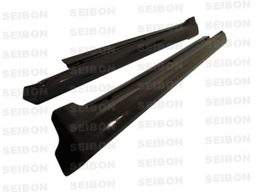 TS-style carbon fiber side skirts for 2006-2010 Lexus IS250/350 4DR