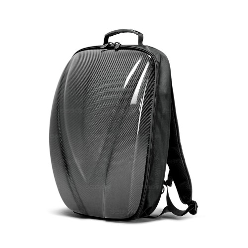 Carbon Fiber Hard Shell Backpack - Black