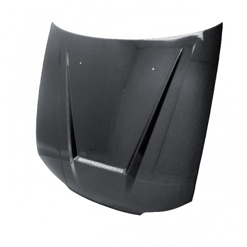 VSII-Style Carbon Fiber Hood for 1999-2001 Nissan S15 (Straight Weave)
