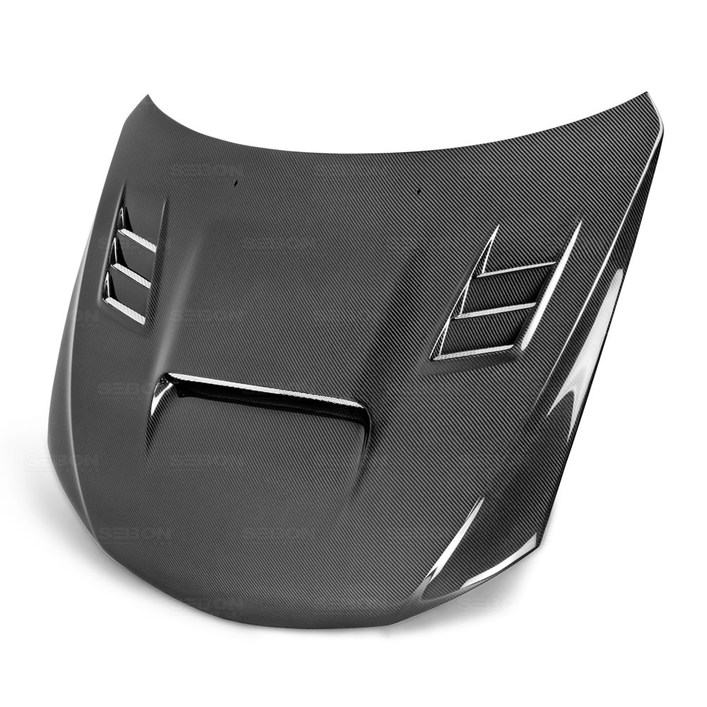 cw style carbon fiber hood for 2008 2014 subaru wrx sti